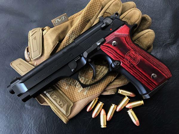 Wood Grip U.S. M9 / M9A1 [Smooth logo / Red]