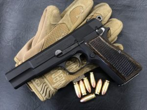Wood Grip Browning High Power [Checker / Dark Brown]
