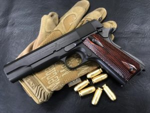 Wood Grip Government / 45 AUTO [Diamond Checker / Brown]