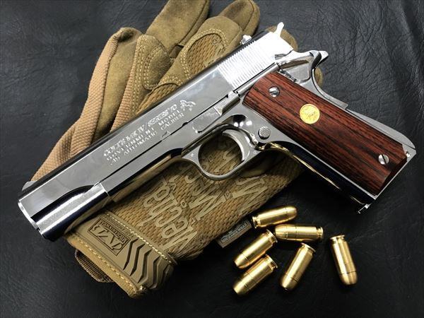 Wood Grip Government / 45 AUTO [Medal / Brown]