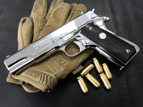 Wood Grip Government / 45 AUTO [Medal / Black]