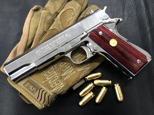 Wood Grip Government / 45 AUTO [Medal / Red]