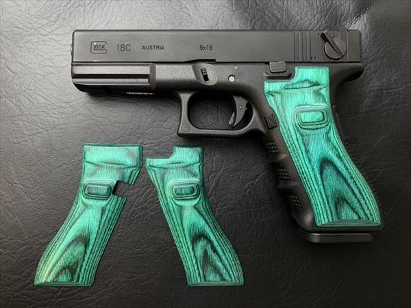 Wood Grip Glock 17 / 18C (Smooth / Green)