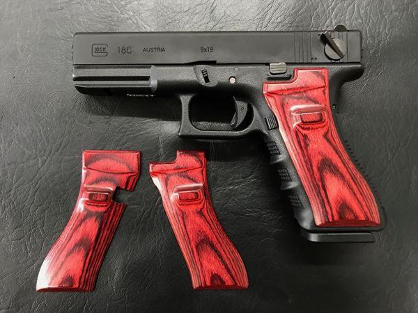 Wood Grip Glock 17 / 18C (Smooth / Red) [AWG-405]