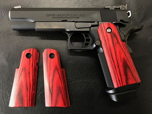 Wood Grip Hi-CAPA 5.1 / 4.3 (Smooth / Red) [AWG-407]