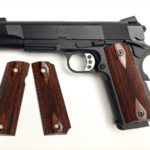 Wood Grip M45CQP (Dia Checker / Brown) [AWG-426]