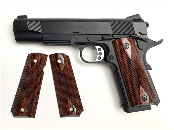 Wood Grip M45CQP (Dia Checker / Brown)