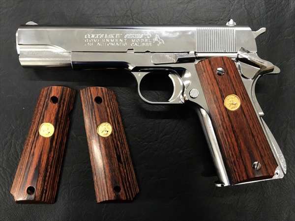 Wood Grip Government / 45 AUTO (Medal / Brown)