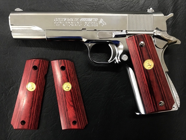 Wood Grip Government / 45 AUTO (Medal / Red)