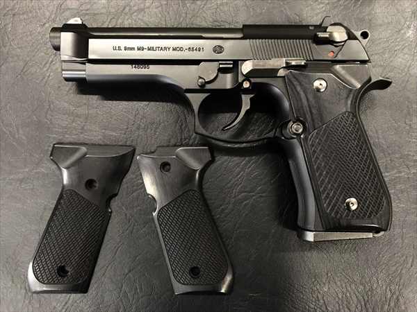 Wood Grip U.S. M9 / M9A1 (Checker / Black)