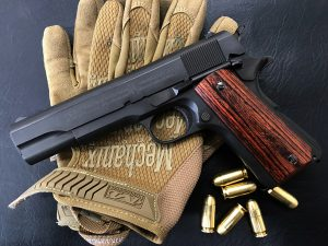 Wood Grip Government / 45 AUTO [Smooth / Brown]