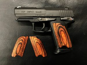 Wood Grip USP Compact (Smooth / Brown)