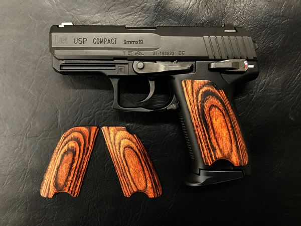Wood Grip USP Compact (Smooth / Brown) [AWG-403]